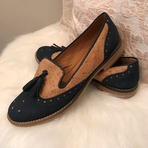Shoes - Cork and Leather Flats Loafers - Made in Portugal